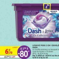 Lessive en capsules Dash chez Intermarché (16/07 – 28/07)