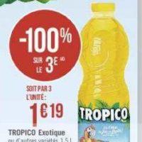 Jus de fruits Tropico chez Casino (16/07 – 28/07)