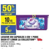 Lessive en Capsules Dash chez Carrefour Market (16/07 – 28/07)