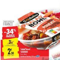 Salade Bowl Sodebo chez Carrefour (16/07 – 22/07)