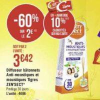 Bâtonnets Insecticide Zen'sect chez Géant Casino (16/07 – 28/07)