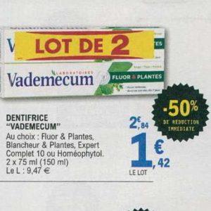 Dentifrice Vademecum chez Leclerc (16/07 – 27/07)