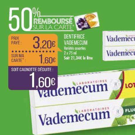 Dentifrice Vademecum chez Match (09/07 – 21/07)