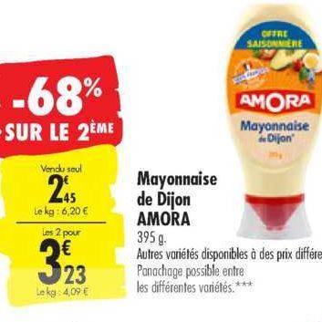 Mayonnaise Amora chez Carrefour (23/07 – 29/07)