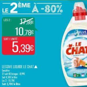 Lessive liquide Le Chat chez Match (16/07 – 21/07)