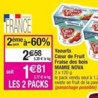 Yaourts aux fruits Mamie Nova chez Cora (16/07 – 22/07)
