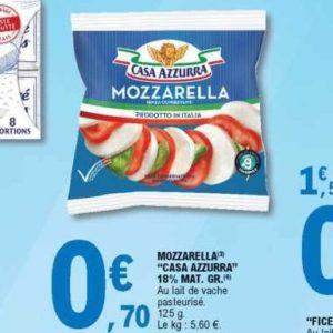 Mozzarella Casa Azzurra chez Leclerc Est (09/07 – 20/07)