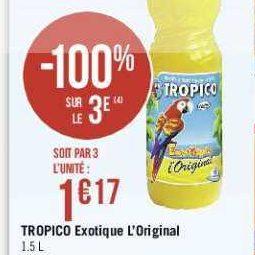 Jus de Fruits Tropico chez Géant Casino (16/07 – 28/07)