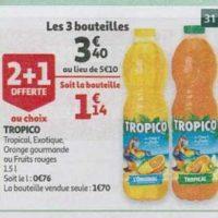 Jus de fruits Tropico chez Auchan Hypermarché et  Supermarché (17/07 – 27/07)
