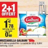 Mozzarella Galbani chez Carrefour Market (09/07 – 21/07)