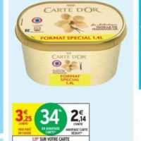 Glace en bac Carte d'Or chez Intermarché (16/07 – 28/07)