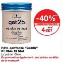 Pâte Coiffante Got2B chez Monoprix (17/07 – 29/07)