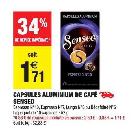 Café en Capsules Senseo chez Carrefour Market (09/07 – 21/07)