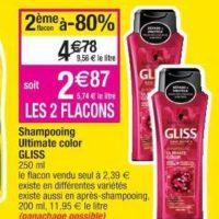 Shampoing Gliss chez Cora (16/07 – 22/07)