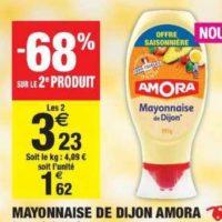 Mayonnaise Amora chez Carrefour Market (23/07 – 04/08)