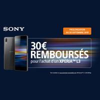 Offre de Remboursement Sony : 30€ Remboursés sur Smartphone Xperia™ L3 chez Orange