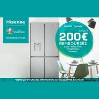 Offre de Remboursement Hisense : Jusqu'à 200€ Remboursés sur Réfrigérateur ou Lave-Linge