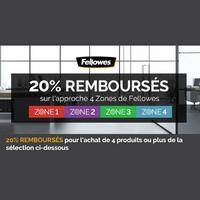 Offre de Remboursement Fellowes : 20% Remboursés sur la gamme Approche 4 Zones®
