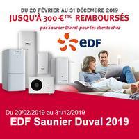 Offre de Remboursement Saunier Duval / EDF : Jusqu'à 300€ Remboursés sur Chaudière