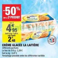 Crème Glacée La Laitière chez Carrefour Market (16/07 – 28/07)