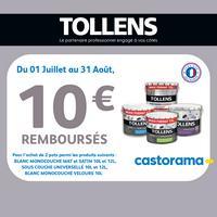 Offre de Remboursement Tollens : 10€ Remboursés sur Peinture Blanche - anti-crise.fr