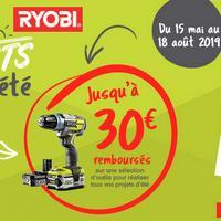 Offre de Remboursement Ryobi : Jusqu'à 30€ Remboursés sur Outils - anti-crise.fr