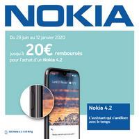 Offre de Remboursement Nokia : Jusqu'à 20€ Remboursés sur Smartphone 4.2