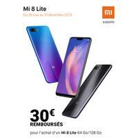 Offre de Remboursement Xiaomi : 30€ Remboursés sur Smartphone MI 8 Lite