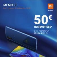 Offre de Remboursement Xiaomi : 50€ Remboursés sur Smartphone Mi Mix 3