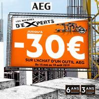 Offre de Remboursement AEG : Jusqu'à 30€ Remboursés sur Outil - anti-crise.fr