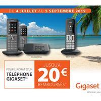 Offre de Remboursement Gigaset : Jusqu'à 20€ Remboursés sur Téléphone chez Orange