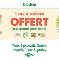 Bon Plan Blédina : 1 Sac à Goûter Offert pour l'achat de 3 produits