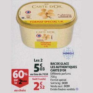 Glace Les Authentiques Carte D'or chez Auchan Supermarché (24/07 – 30/07)