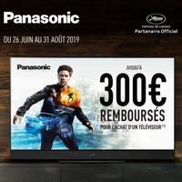Offre de Remboursement Panasonic : Jusqu'à 300€ sur TV LED ou OLED