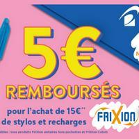 Offre de Remboursement Pilot : 5€ Remboursés sur Stylos et Recharges Frixion