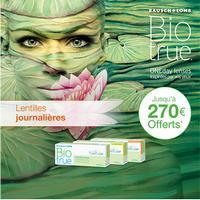 Offre de Remboursement Bausch + Lomb : Jusqu'à 270€ Remboursés sur les Lentilles Biotrue® ONEday