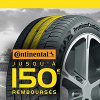 Offre de Remboursement Continental : Jusqu'à 150€ Remboursés sur les Pneus chez Eurotyre