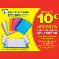 Offre de Remboursement Clairefontaine : Jusqu'à 10€ Remboursés sur Koverbook