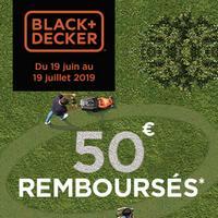 Offre de Remboursement Black + Decker : 50€ Remboursés sur Tondeuse + Coupe-bordure
