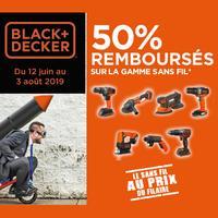 Offre de Remboursement Black + Decker : 50% Remboursés sur la gamme Sans Fil