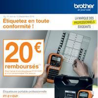 Offre de Remboursement Brother : 20€ Remboursés sur Etiqueteuse + Consommable