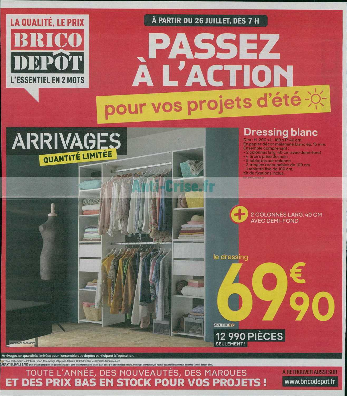 Dressing Arrivage Brico Depot