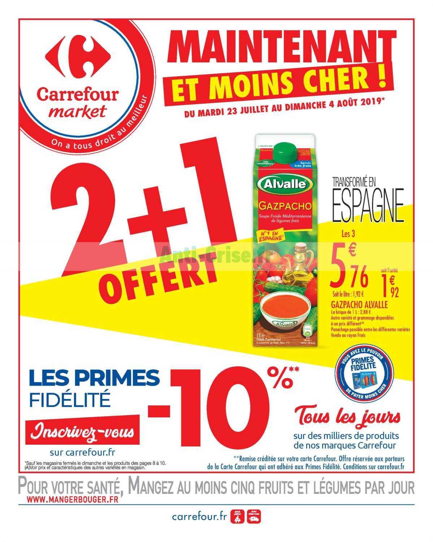 Catalogue Carrefour Market du 23 juillet au 04 août 2019