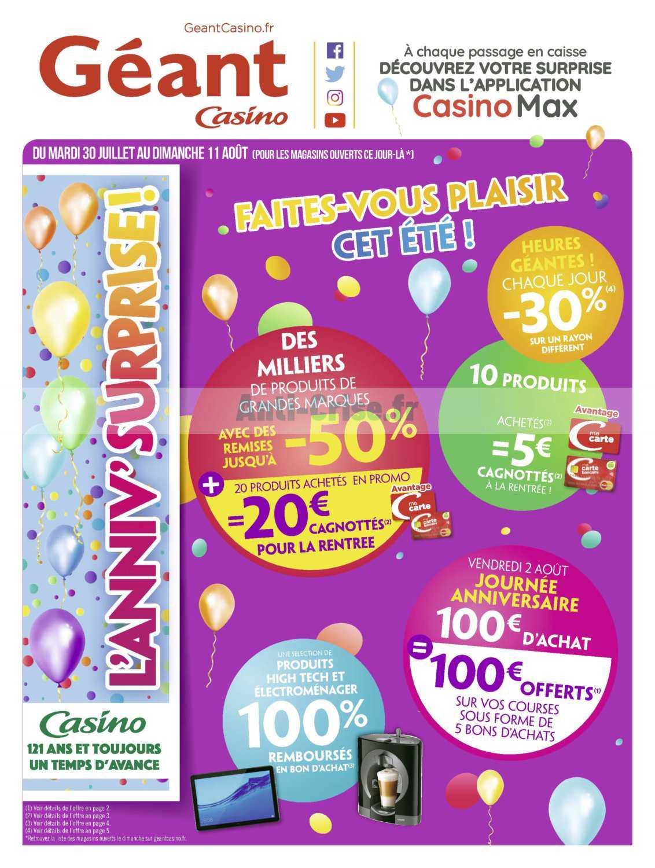 Catalogues Juillet 30 Du Catalogue 11 Août Géant 2019 Casino Au PiuOkTXZ