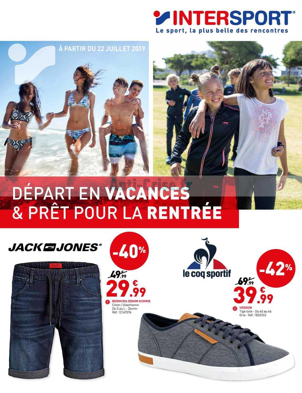 Catalogue Intersport Du 22 Juillet Au 03 Aout 2019 Catalogues Promos Bons Plans Economisez Anti Crise Fr