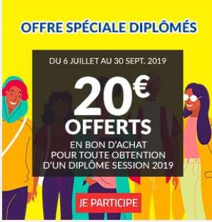 20€ offerts chez BUT pour les nouveaux diplomés