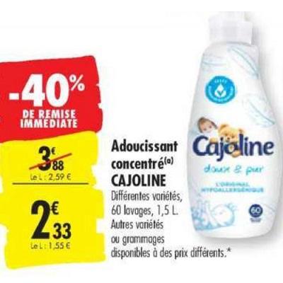 Assouplissant Cajoline chez Carrefour (23/07 – 29/07)