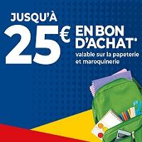Carrefour : 25€ Offerts en Bon d'Achat contre Votre Ancien Cartable