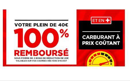 Géant Casino : Votre Plein Remboursé en 2 Bons & Carburant à Prix Coûtant (17/10-20/10)