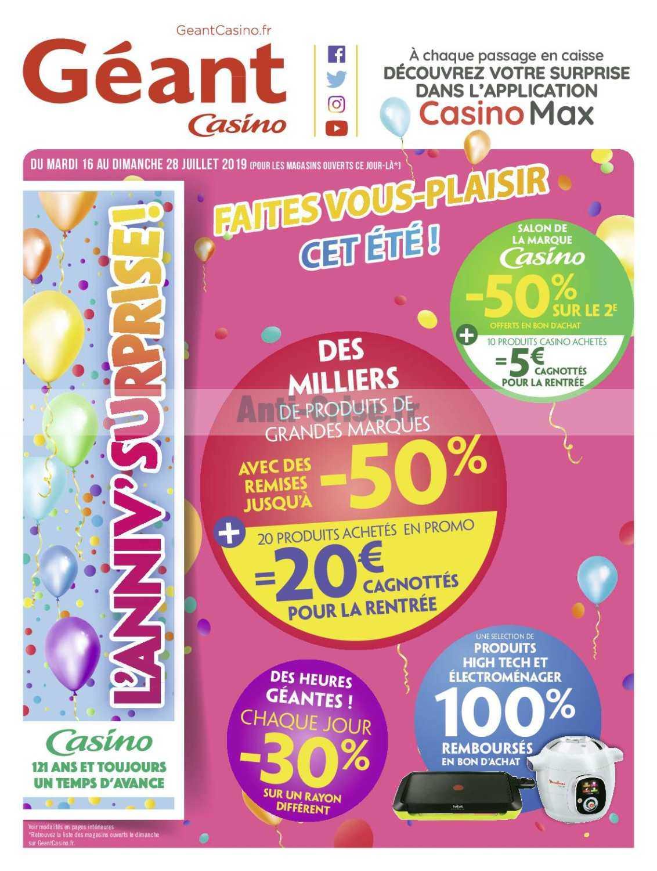 Promos 2019 Catalogue Au 16 Casino Catalogues Du 28 Juillet Géant 7vYb6gyf